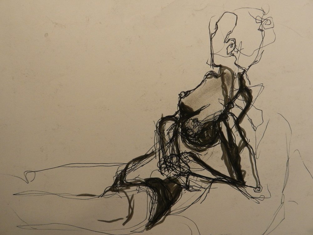 Charcoal, pen and ink on paper. 2011