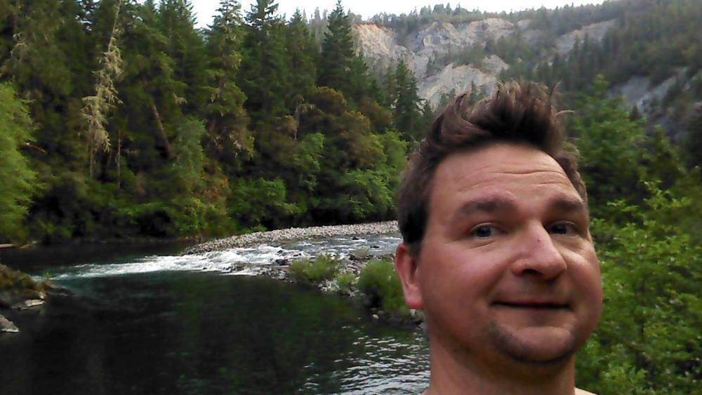 ANDREW ENJOYING THE NORTH FORK SMITH RIVER