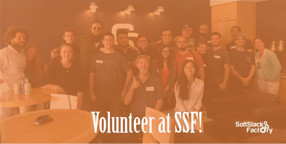 Volunteer at SSF banner