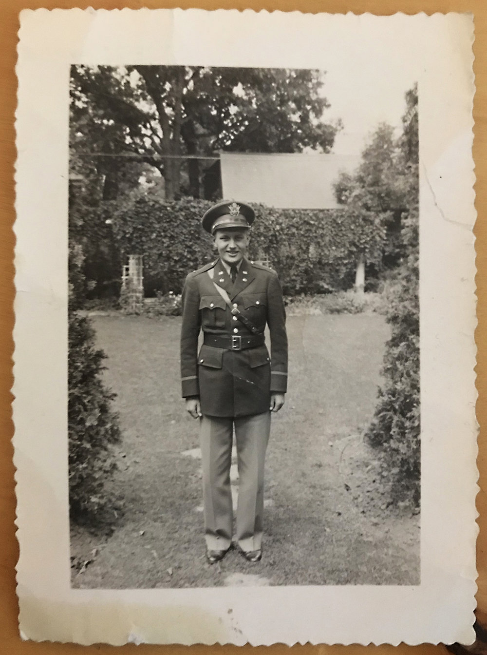 A very young Robert Gruhn at the start of his military career.
