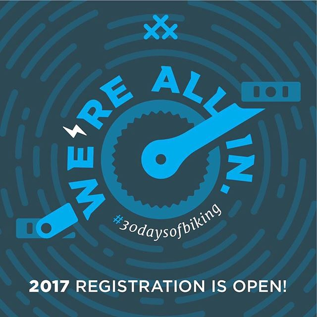 Sign up and follow @30daysofbiking419 for local events and fun!