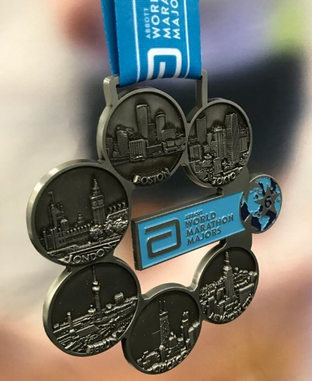 Six Star Finishers Medal. Image source: Boston Marathon  twitter