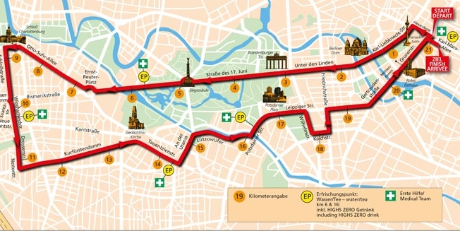 Berlin Half Marathon  course