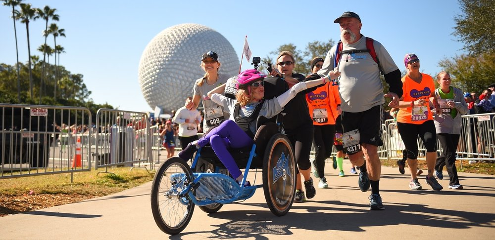 Team Corey finishing the 2018 Walt Disney World Marathon