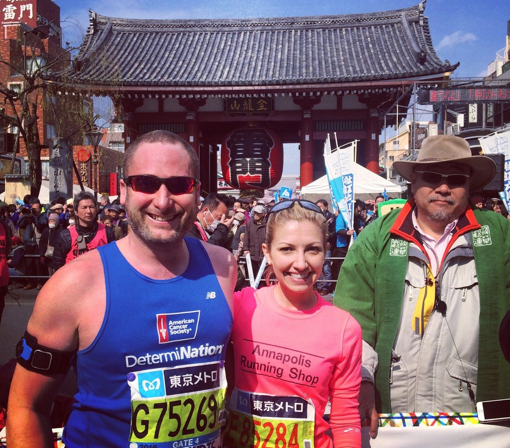 Making friends along the way of the Tokyo Marathon