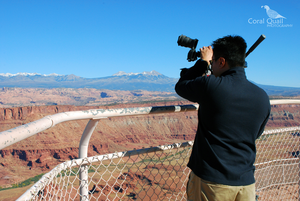 Jeff filming at Canyonlands National Park in Utah