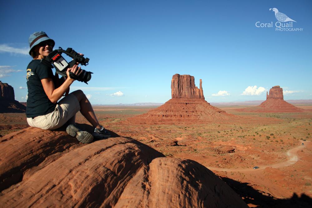 Madeline on location in Monument Valley, Utah/Arizona