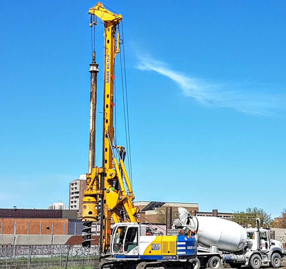 The drill rig in action last week at the Wst Towns site on Perth Avenue.jpg