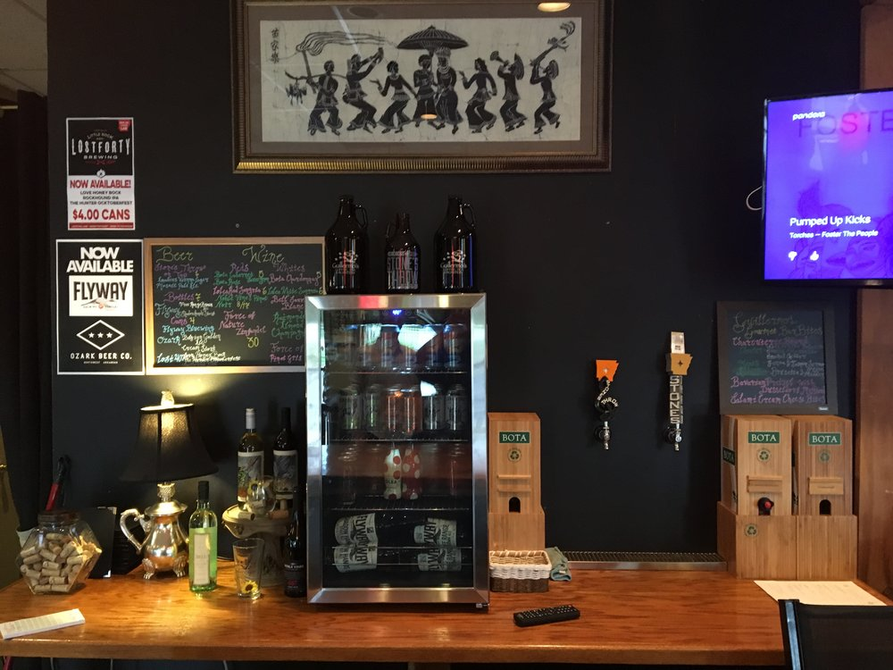 We now offer 10 Native Craft Beers from breweries like Stone's Throw, Lost 40, Ozark, and Flyway.  Don't forget to grab a Growler to go.  Or sit back and sip on one of our 10 Wines or a Sangria