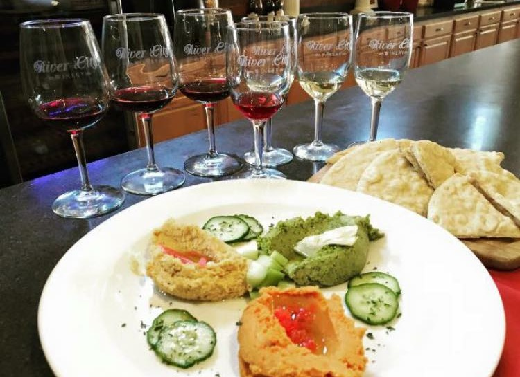 Wine Tasting & Trio of Hummus