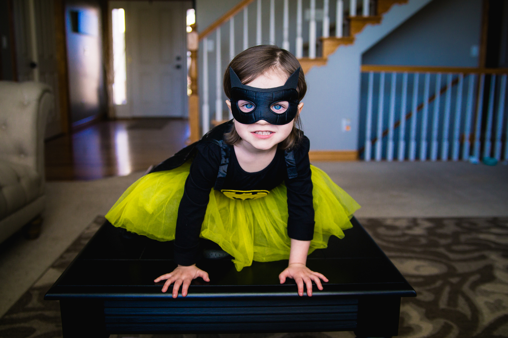 Evelynne Gant dressed up as Batgirl.