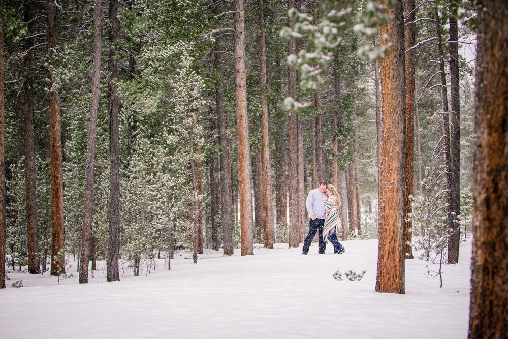 Lily Lake | Estes Park, Colorado | JMGant Photography | Snowy Engagements | www.jmgantphotography.com