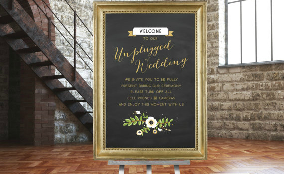 Considering this sign from etsy.com/shop/BuffyWeddings