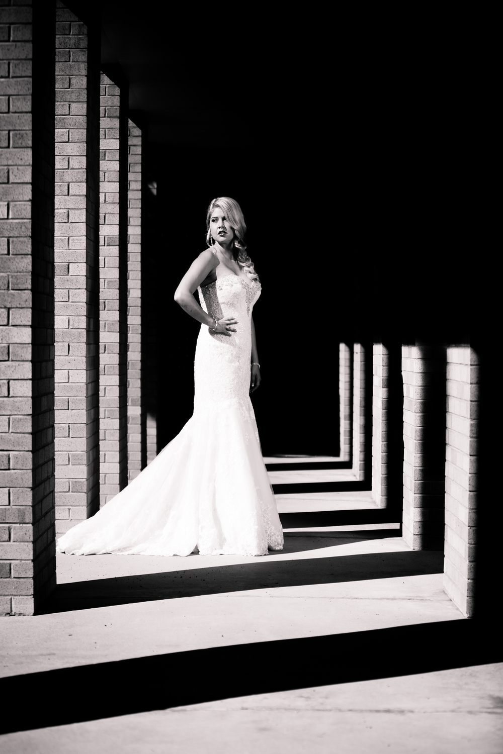 Black and white bridal. www.jmgantphotography.com