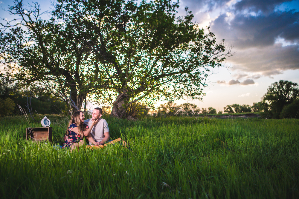 Sunset Engagments at Sandstone Ranch. Take by Jared M. Gant