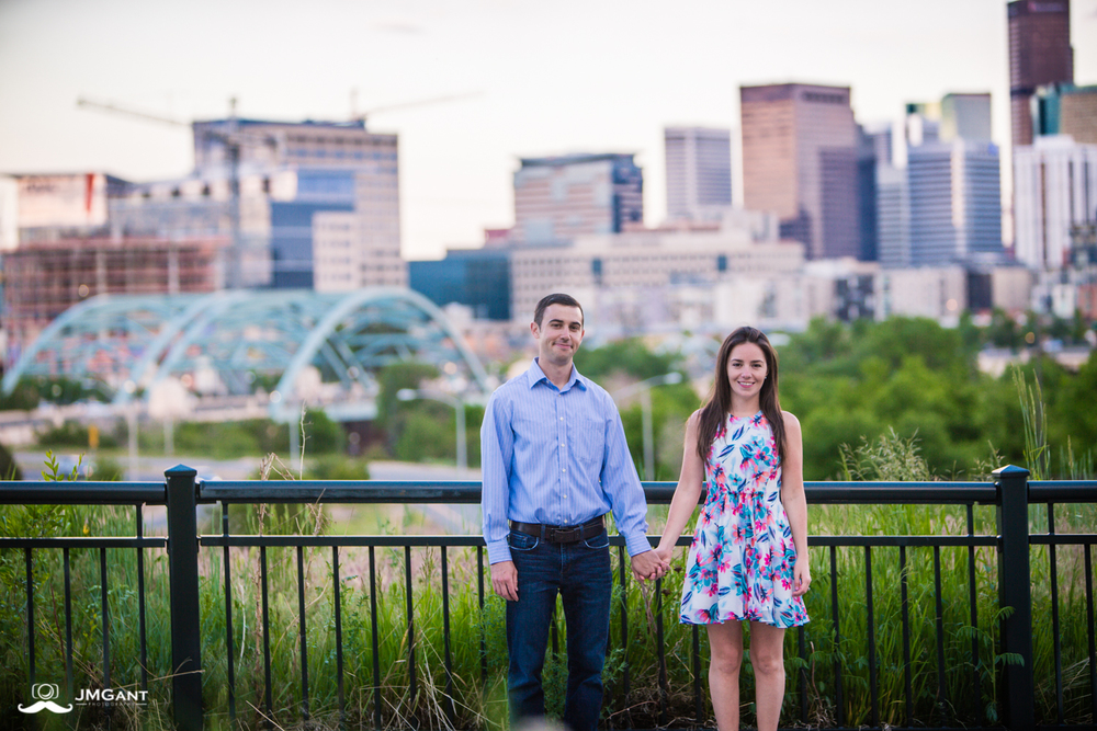 Denver Cityscape Engagement Session photographed by Jared M. Gant.