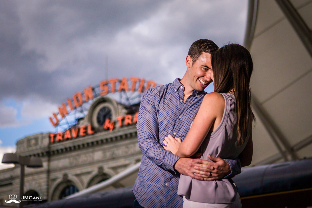 Denver Union Station Engagement Photos by Jared M. Gant.