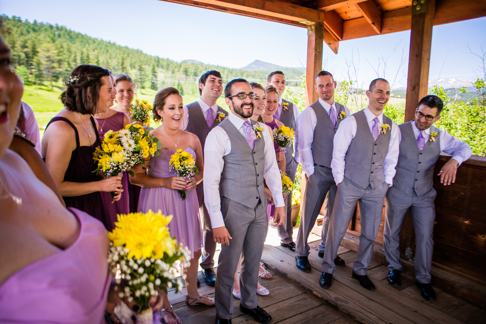 Bride and groom's first look at their Deer Creek Valley Ranch Wedding. Photographed by JMGant Photography.