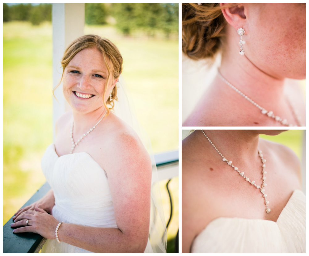 Bride's jewelry. Deer Creek Valley Ranch Wedding. Photographed by JMGant Photography.