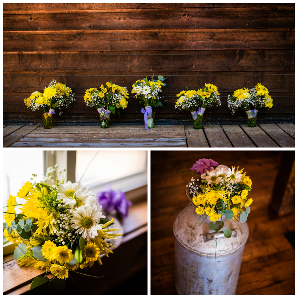 Summer mountain wedding flowers from Costco. Deer Creek Valley Ranch Wedding. Photographed by JMGant Photography.