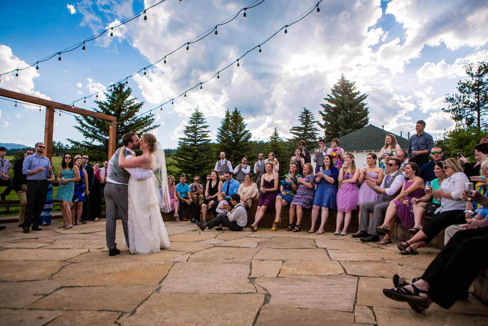 First dance. Deer Creek Valley Ranch Wedding. Photographed by JMGant Photography.