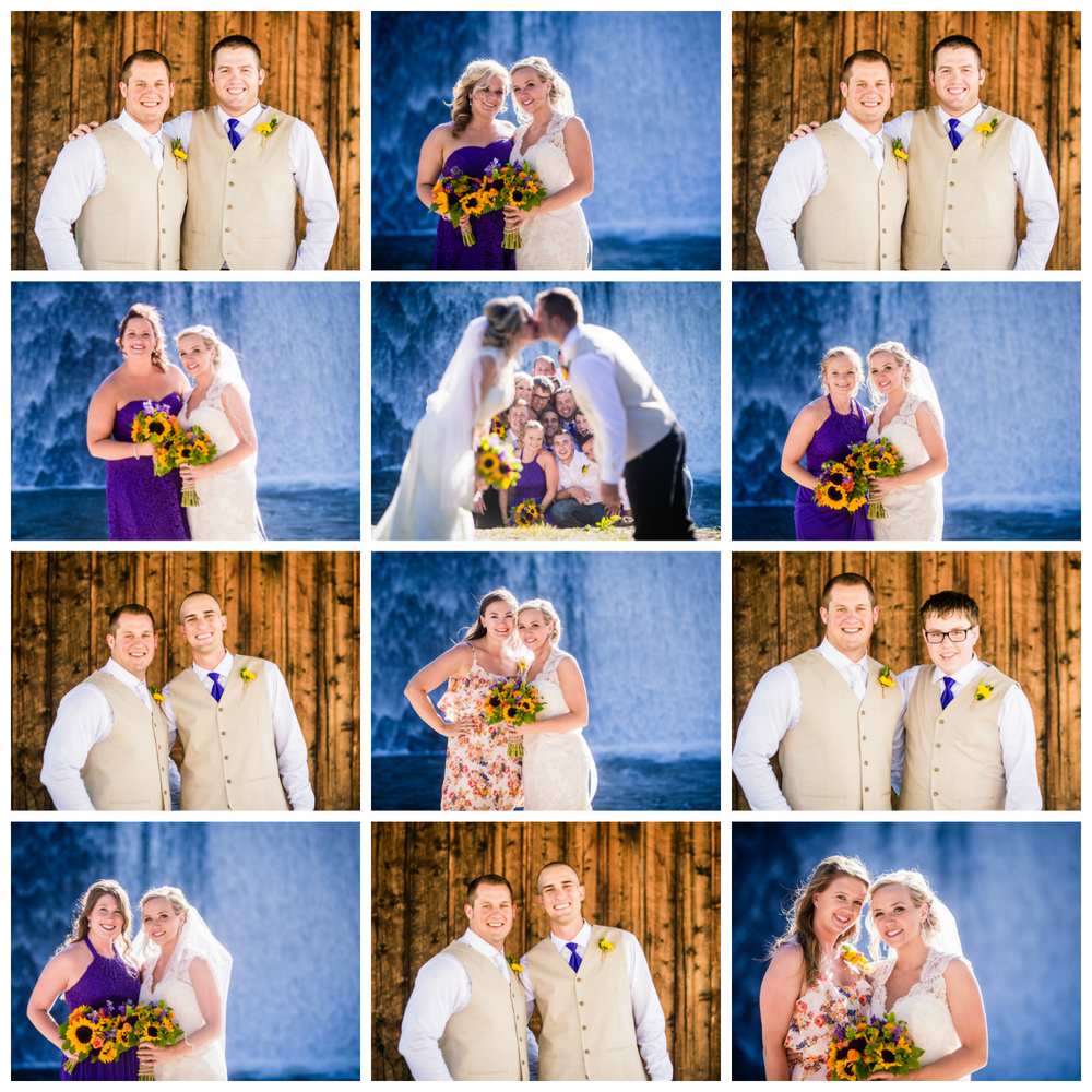 Wedding Party College.Wedding at The barn at Evergreen Memorial. Photographed by JMGant Photography.