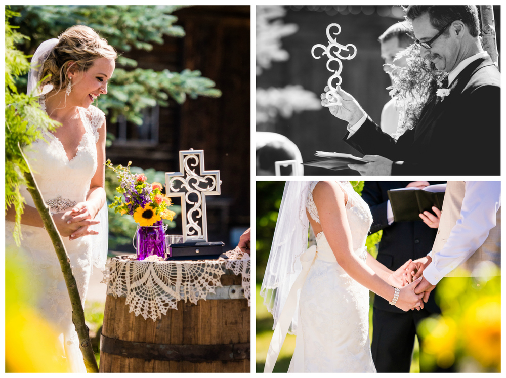 Unity cross. Wedding at The barn at Evergreen Memorial. Photographed by JMGant Photography.