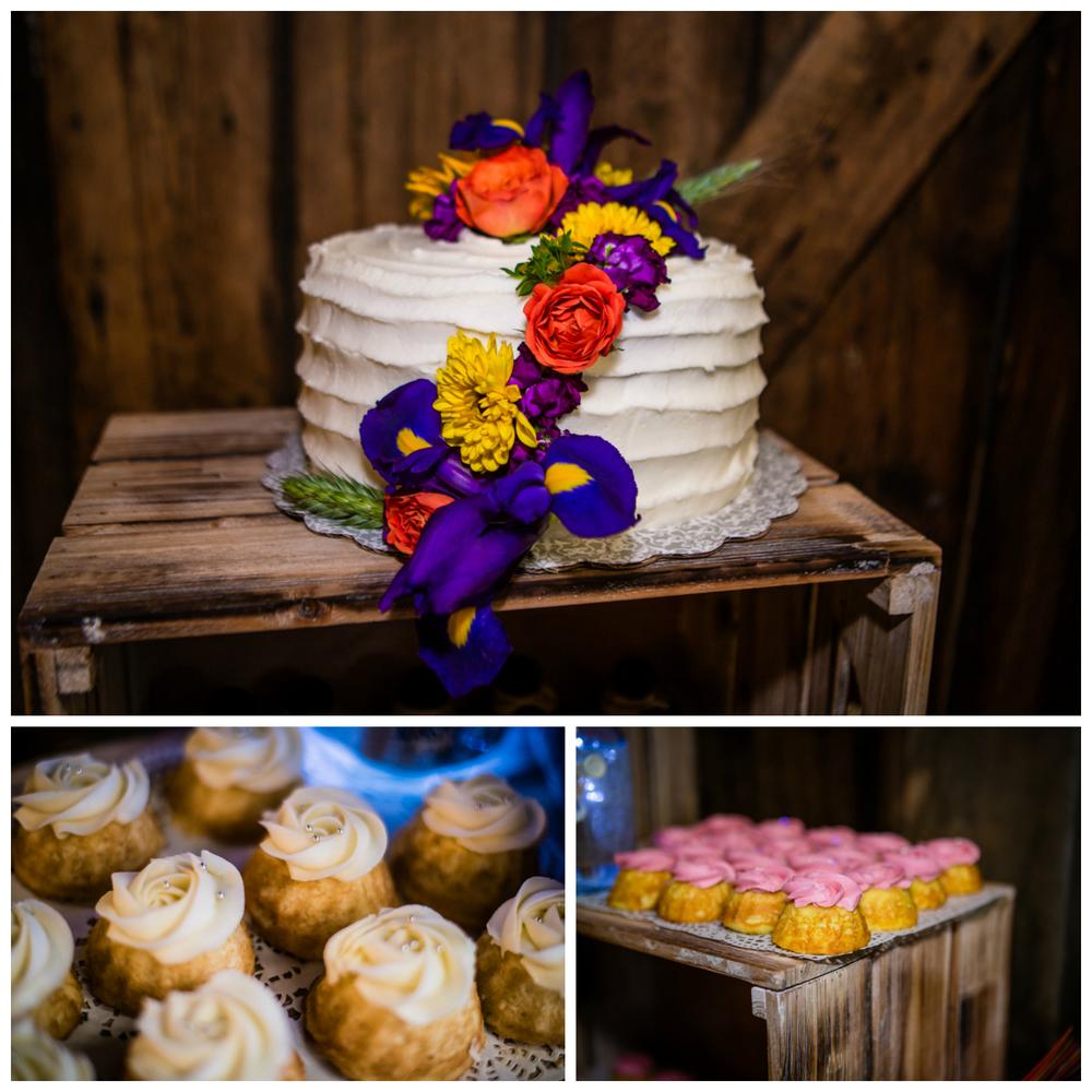 Wedding Cake and cupcakes.