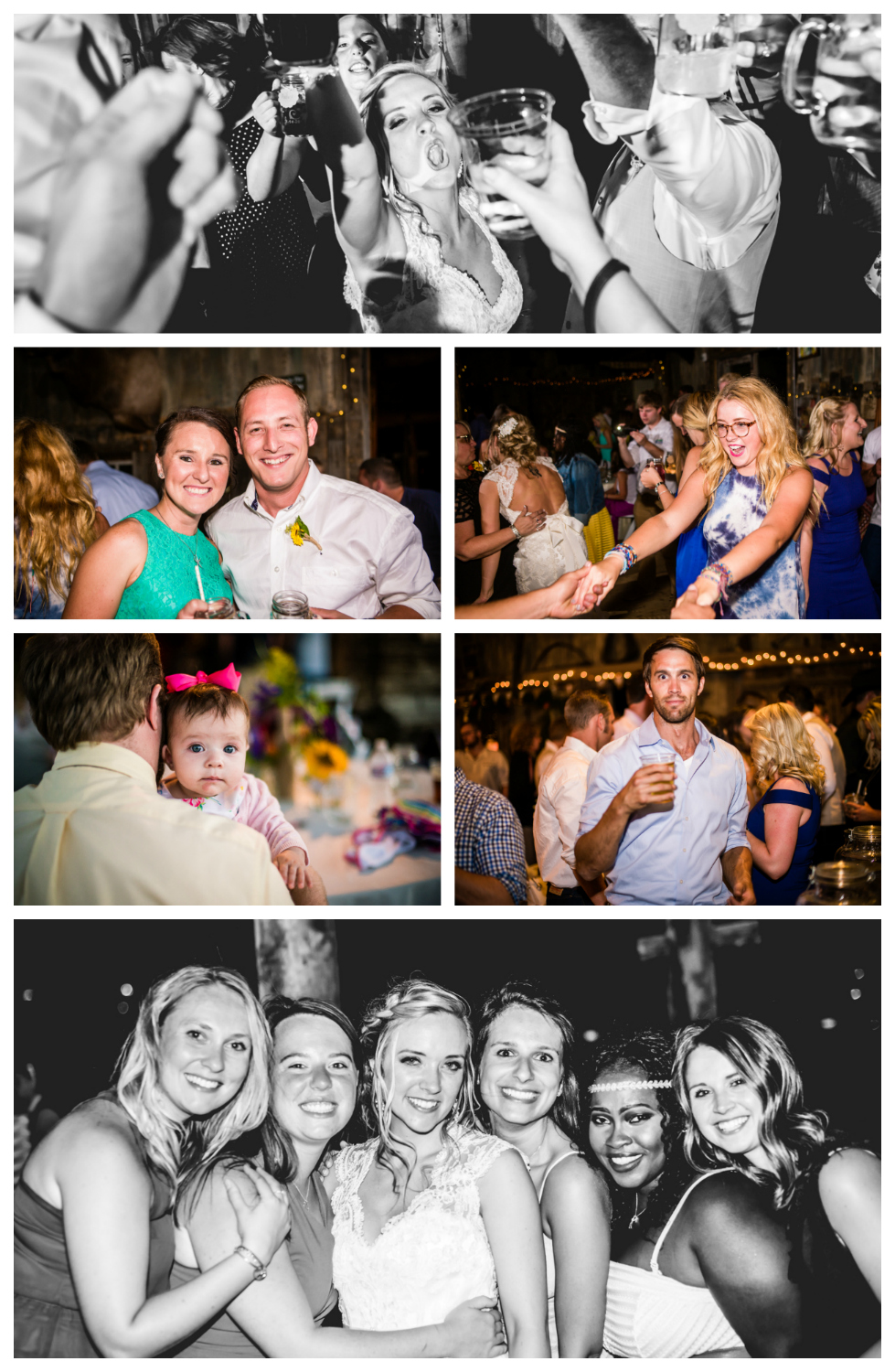 Reception.Wedding at The barn at Evergreen Memorial. Photographed by JMGant Photography.