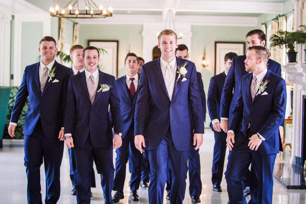 Groomsmen inside Highlands Ranch Mansion.Photographed by JMGant Photography, Denver Colorado wedding photographer.