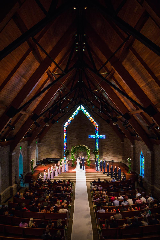 Cherry Hills Community Church wedding ceremony. Photos by JMGant Photography.