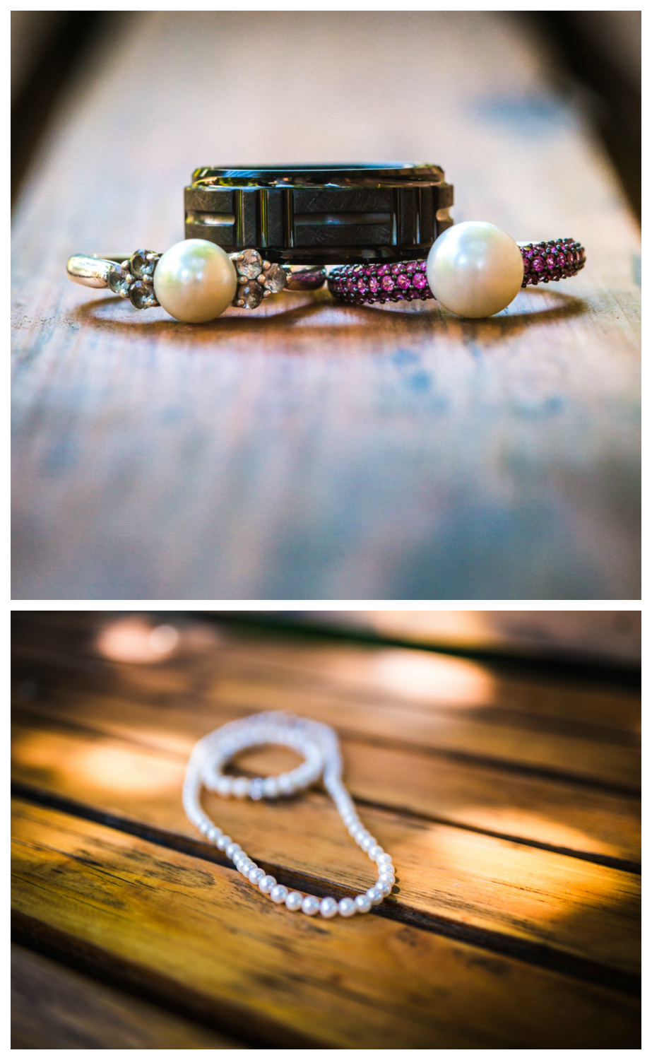 Wedding jewelry. Photographed by JMGant Photography.