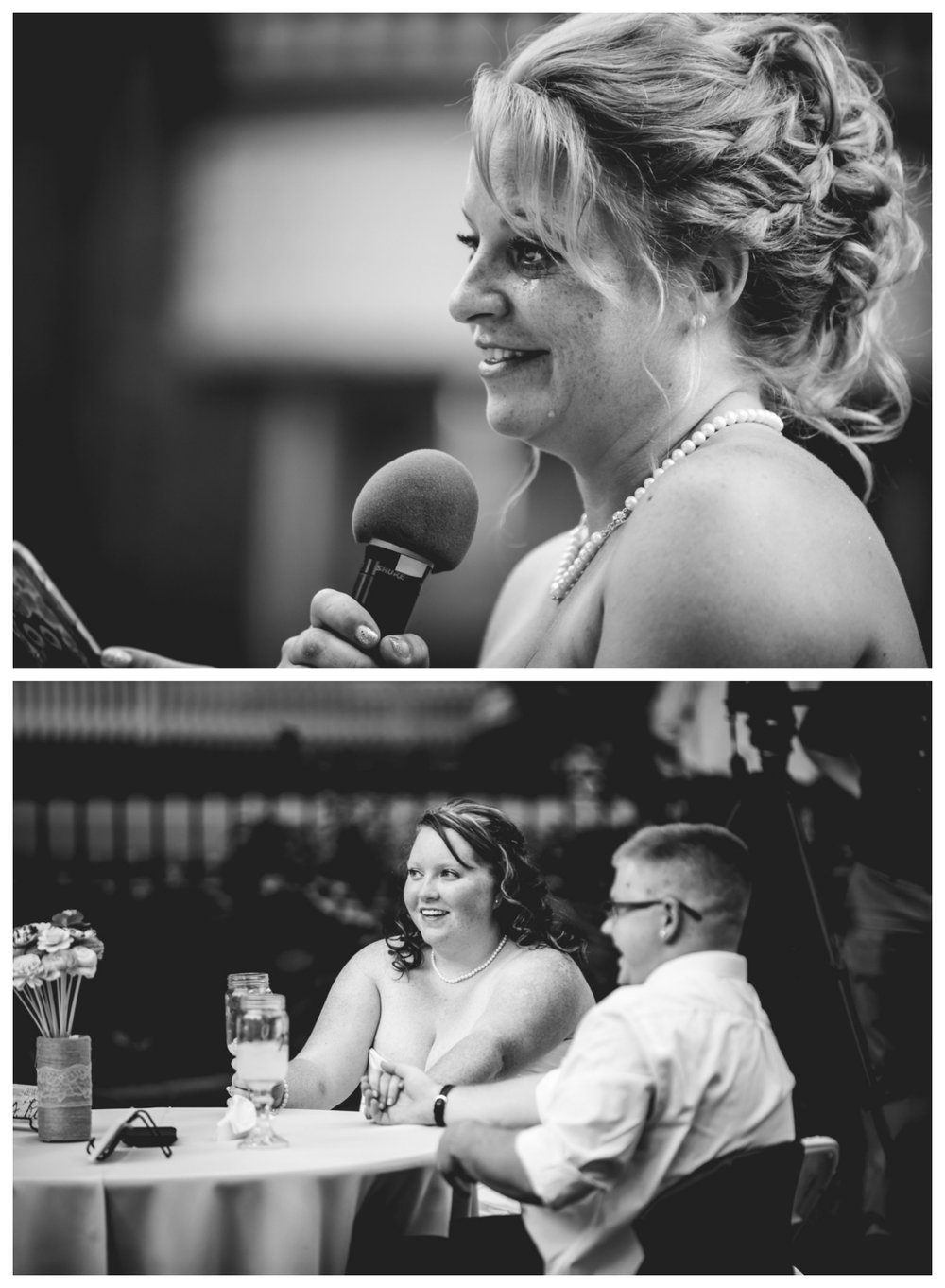 Wedding toasts given by the brides mom. Photographed by JMGant Photography.