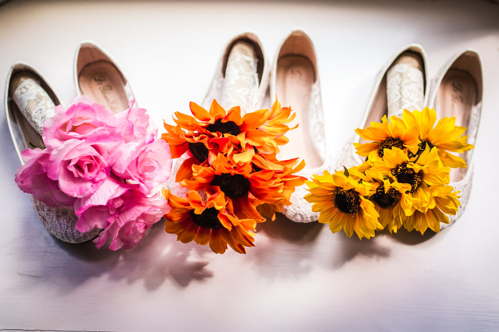 Bridesmaids shoes. Photographed by JMGant Photography.