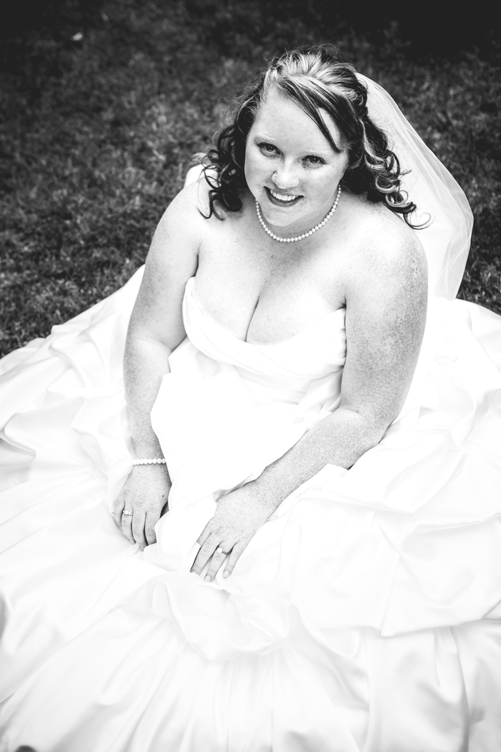 The bride taking a short break.  Photographed by JMGant Photography.
