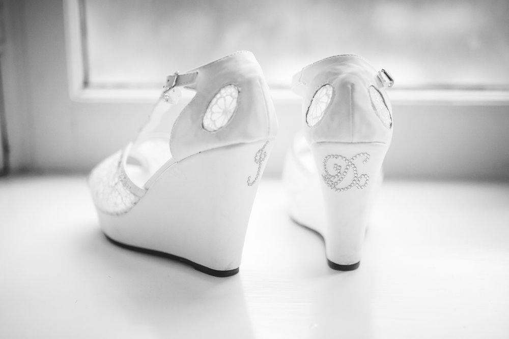Bridal shoes. Photographed by JMGant Photography.