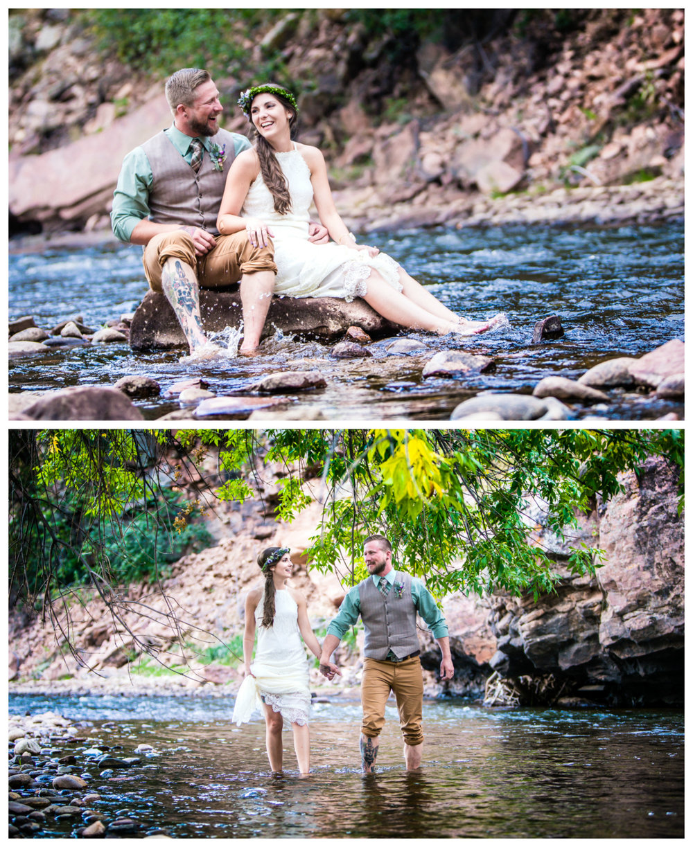 Bride and groom playing in the water at River Bend.jpg