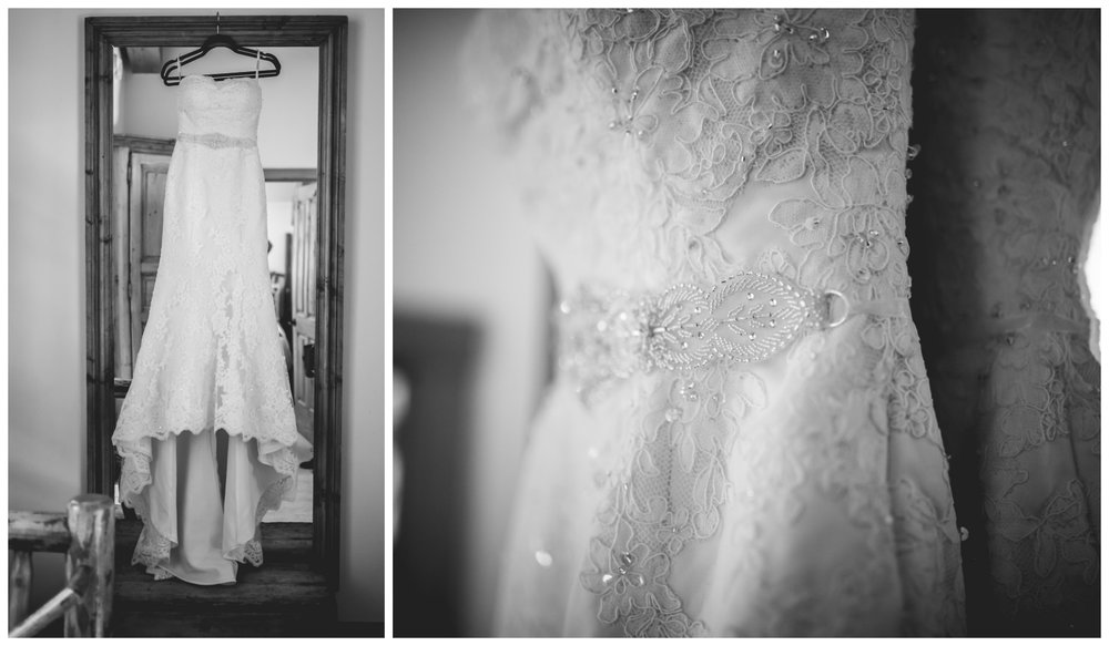 Wedding dress for Vail Colorado Wedding photographed by JMGant Photography.