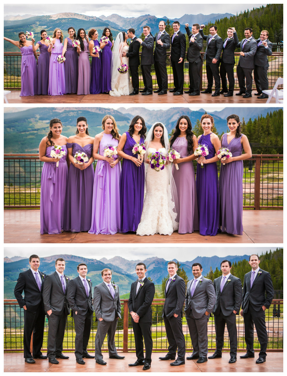 Bridal party.Vail Colorado Wedding photographed by JMGant Photography.
