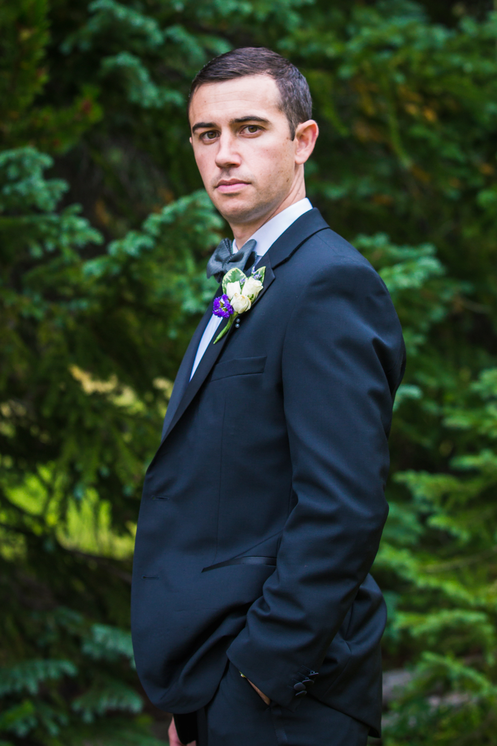 The Groom.Vail Colorado Wedding photographed by JMGant Photography.