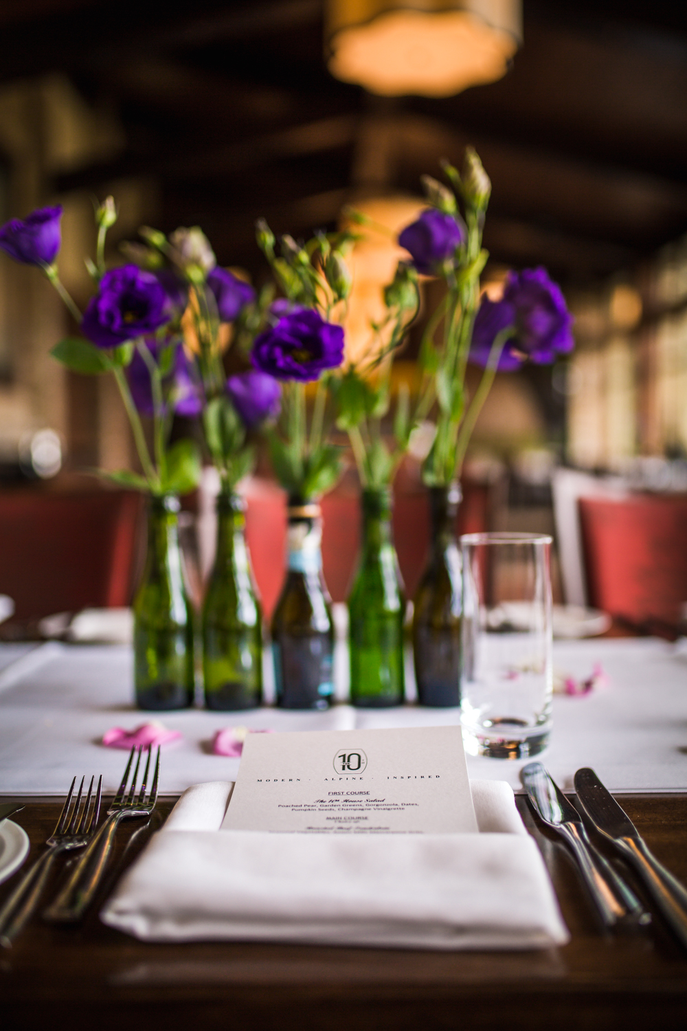 Wedding details.Vail Colorado Wedding photographed by JMGant Photography.