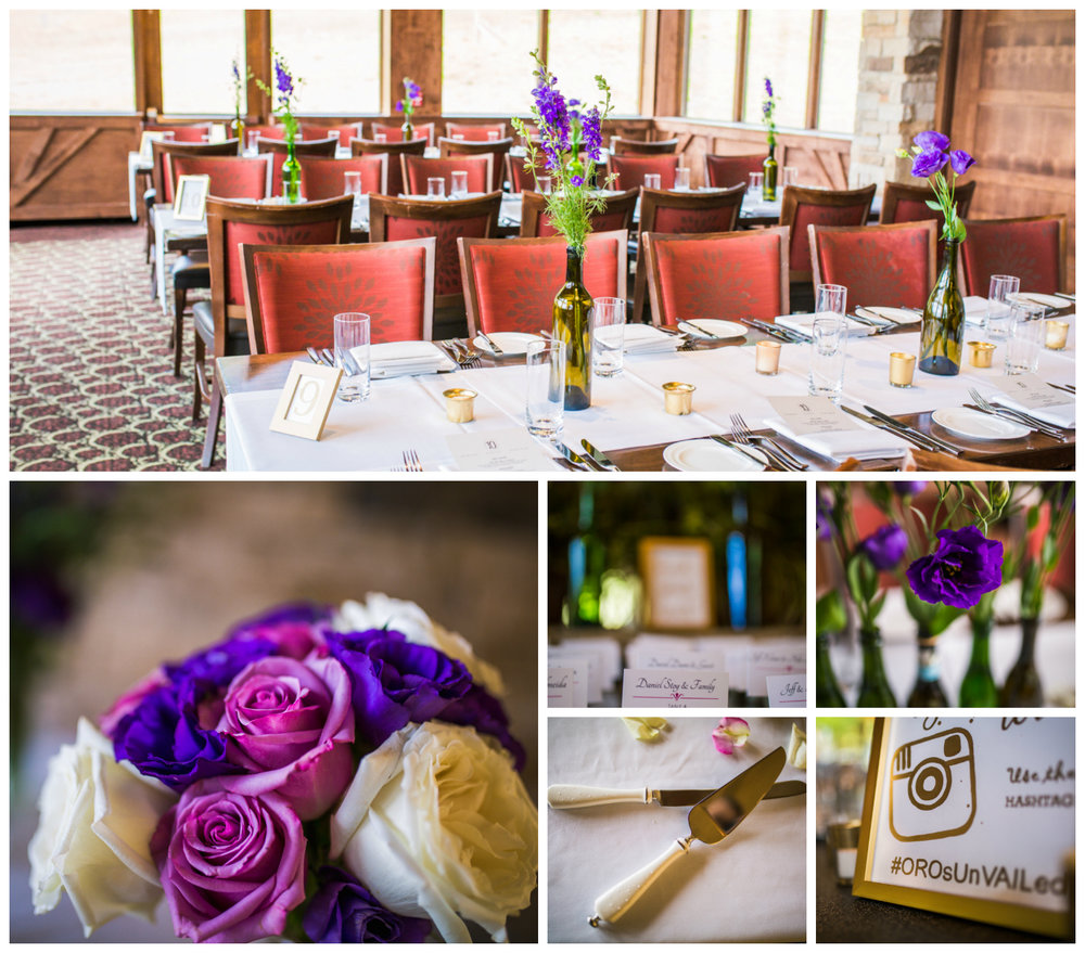 Tablescapes.Vail Colorado Wedding photographed by JMGant Photography.