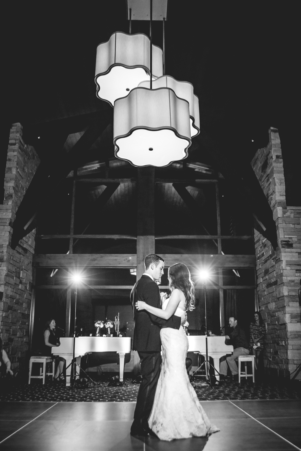 The first dance.Vail Colorado Wedding photographed by JMGant Photography.