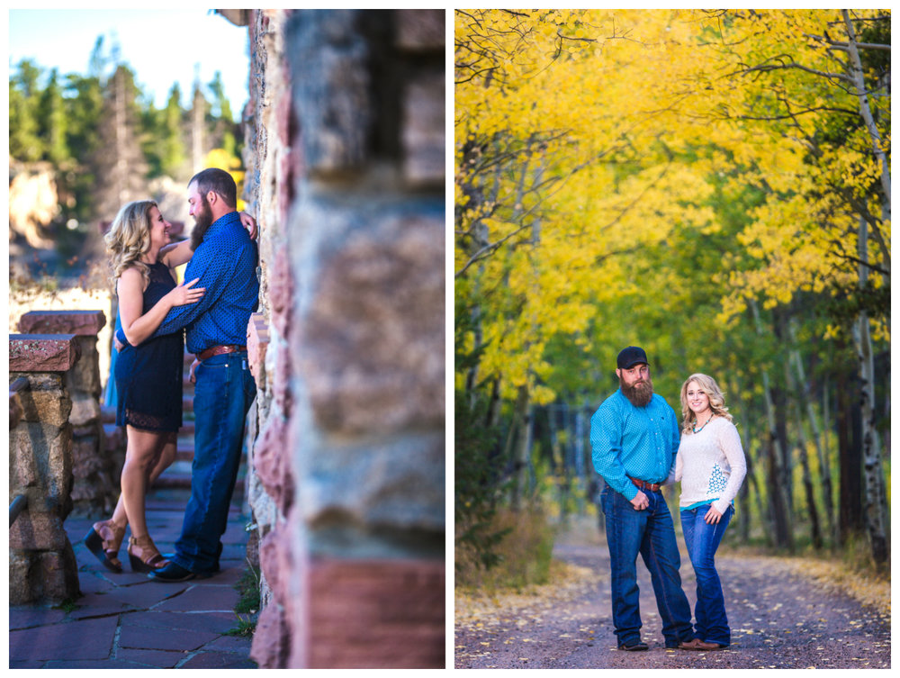 Fall engagement pictures taken in the Colorado mountains by JMGant Photography.
