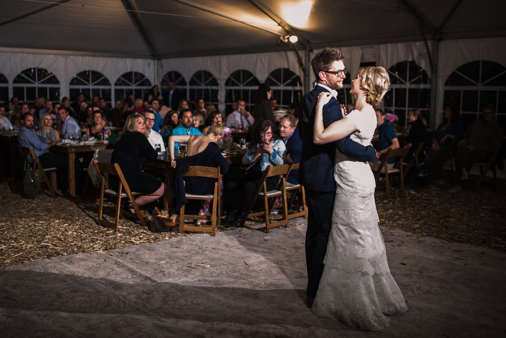 First dance at Nederland  Colorado wedding by JMGant Photography.