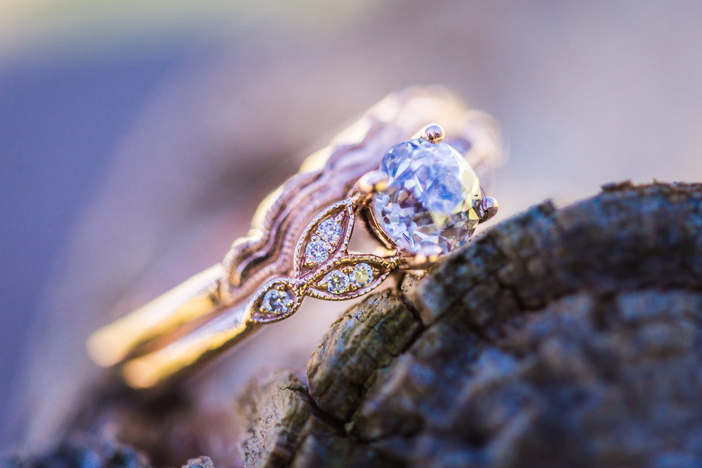 Wedding ring details by JMGant Photography