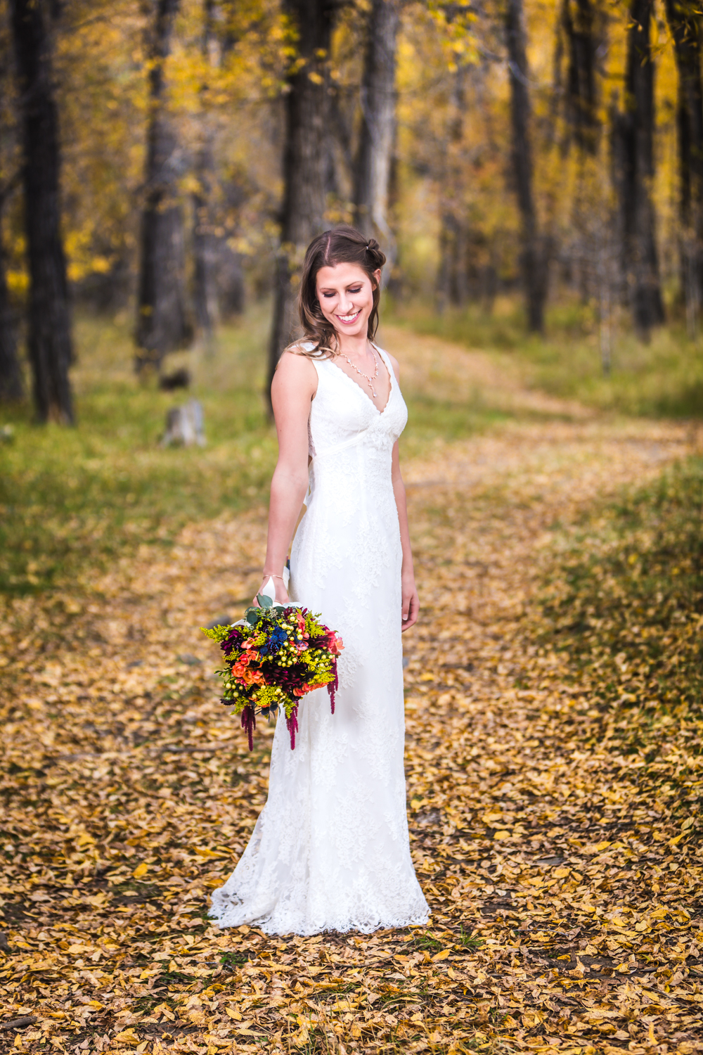 Fall wedding by JMGant Photography.