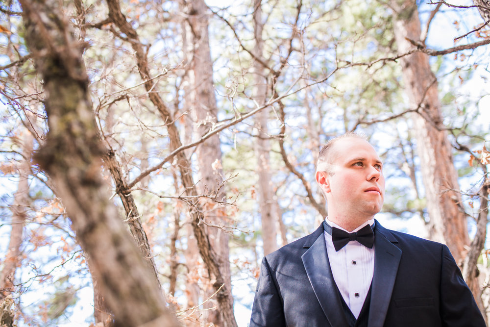 Groom waiting nervously  by JMGant Photography.