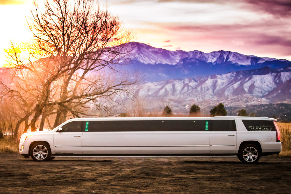 Sunset Luxery Limo  by JMGant Photography.