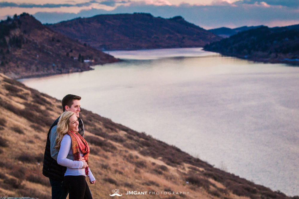 Fort Collins engagement pictures   by JMGant Photography. Fort Collins Wedding Photography | Horsetooth Reservoir engagements | Sunset engagements | northern colorado engagements